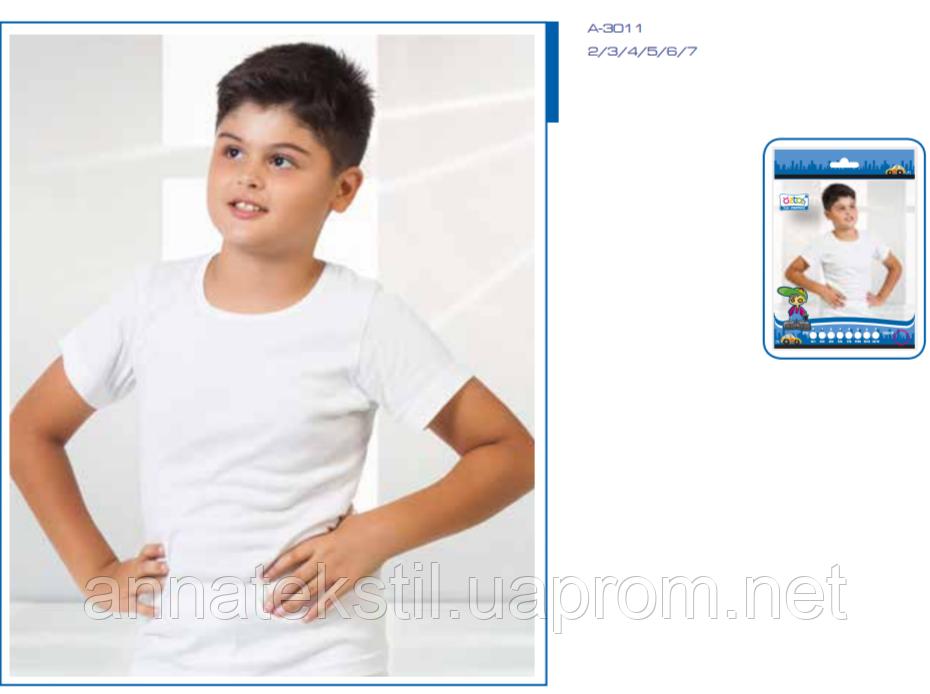 Футболка белая для мальчиков OZTAS арт: A3011