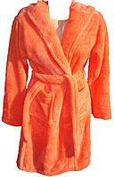 Женский махровый халат короткий MISS все размеры