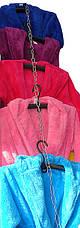 Женский махровый халат короткий MISS Белый , фото 3