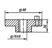 03-04-531 Полумуфта КШП-3 (погрузчик Р6-КШП-6)