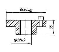 01-00-054 Полумуфта электродвигателя КШП-3 (погрузчик Р6-КШП-6)