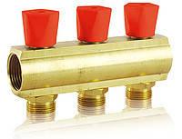 Коллекторная балка со встроенными вентильными клапанами 1*3/4 2 выхода