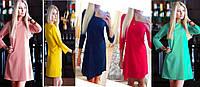 """Женское модное  платье """"Трапеция"""" - 5 цветов, фото 1"""