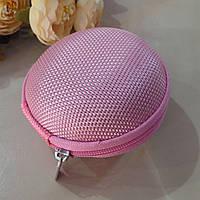 Чехол - футляр для наушников нежно розовый