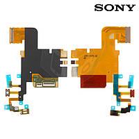 Шлейф для Sony LT28h Xperia Ion, микрофонный, кнопки камеры, с компонентами (оригинал)