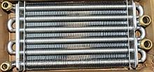 Теплообм.битерм. подкл. резьба 195 мм (без ф.у, Китай) котлов Solly Standart H18, арт. 2XJ1750013, к.з. 4038