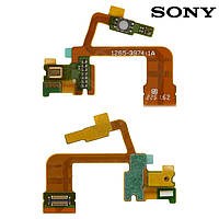 Шлейф для Sony Xperia ZL C6502 L35h C6503 L35h, микрофона, кнопки камеры, с компонентами, оригинал