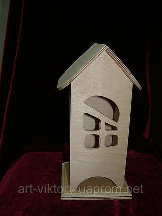 Будиночок для чайних пакетиків (заготівля) ВІКОНЦЕ (10 х 10 х 23 см), фото 2