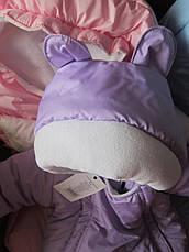 Новые. Конверт зимний для новорожденного на осень-весну, теплая зима , фото 2
