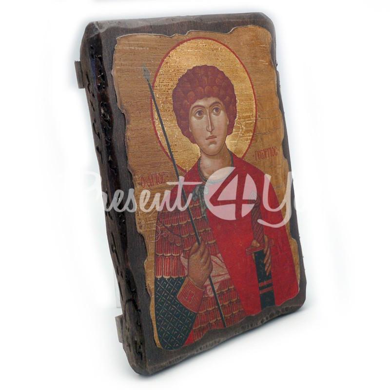 Деревянная икона Святой великомученик Георгий Победоносец