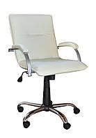 Кресло Samba GTP WOOD алюм,винилискожа S-82 (Примтекс Плюс)