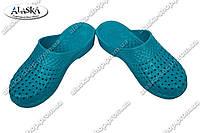 Шлепки женские бирюзовые (Код: С-45 КРОК)