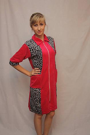 Женский велюровый халат, фото 2