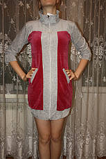 Молодежный велюровый халат, фото 2