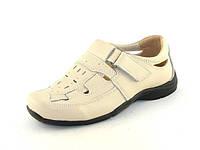 Летние туфли детские на мальчика, Шалунишка, кожа,стелька кожа ортопедическая, размеры 26-31