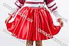 Красная пышная юбка для девочки в украинском стиле Даринка, фото 5