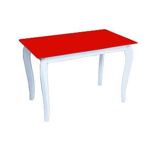 Стол обеденный стеклянный Император Белиссимо Ред, фото 2