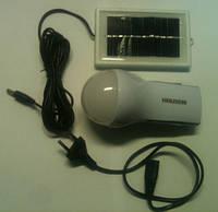 Светодиодный аккумуляторный фонарь RIGHT HAUSEN HN-04.1.08.1.с солнечной батареей Код.58615