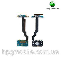 Шлейф для Sony Ericsson C905, динамика, дисплея, с компонентами, с верхним клавиатурным модулем (оригинал)
