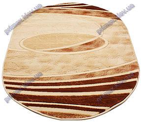"""Синтетический ковер Фестивал Стайл """"Тайфун"""" рельефный, коричневые тона"""