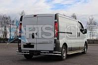 Защита на задний бампер Renault Trafic
