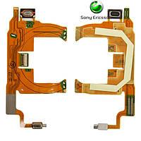 Шлейф для Sony Ericsson T707, динамика, с компонентами (оригинал)