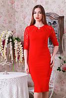Элегантное женское платье с гипюром р.46-50 Y207.1