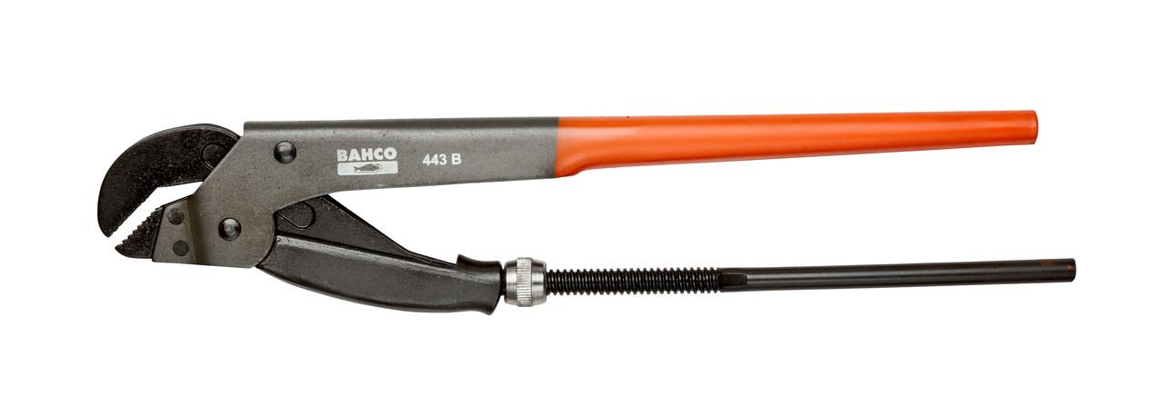 Трубний ключ, губки під кутом 45, довжина виробу - 535 мм, Bahco, 444 B