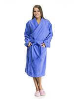 Махровый халат-кимоно средней длинны (двухсторонняя махра), рост 170 100% хлопок, 44-54 рр., Туркменистан