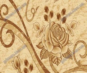 """Синтетический ковер Фестивал Стайл """"Цветок"""" рельефный, коричневые тона"""
