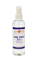 Обезжириватель для ногтей Nail Prep ADORE 3 в 1, 100ml