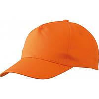 Кепка пятиклинка из 100% хлопка ПРОМО МВ001 на липучке оранжевая