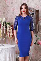 Элегантное женское платье с гипюром р.46-50 Y207.2