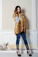 Индивидуальный пошив меховой жилетки из лисы