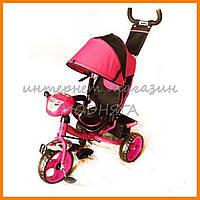 Детский велосипед розовый TurboTrike M 3115-6Н, колеса пенорезина