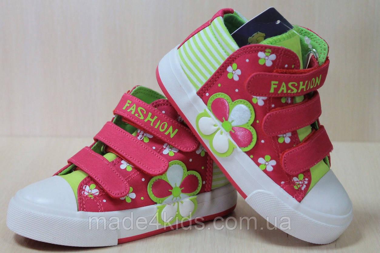 e7ceccc1cc44 Детские кеды на девочку, стильная текстильная обувь, высокие кеды, тм