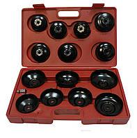 Комплект съемников масляных фильтров  HESHITOOLS HS-E1245 (14предметов, крышки)