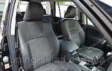 Чохли на Тойота Прадо 150 рестайлінг 2013 (авточохли Toyota Prado 150 рестайлінг 2013, Lether style)