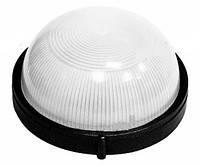 Светильник для ванны влагозащищенный круглый (настенный светильник влагозащищенный круглый) черный 100w E27 IP