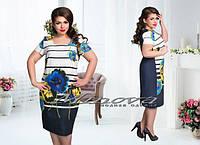 Платье женское, ткань креп-костюмка. Размеры 50,52,54,56