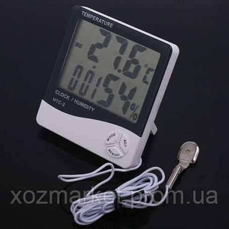 Метеостанция, Часы, Гигрометр, Влагометр HTC-2  - Хозмаркет в Киеве