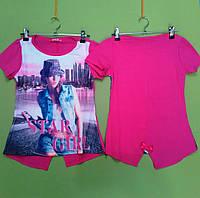 Футболка для девочки S&D  р.134-164.Детская одежда оптом из Венгрии