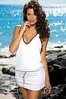 Туника-платье на пляж белый, S