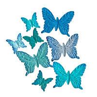 Бабочки, нежно-голубые, 8шт/уп