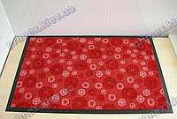 Ковер грязезащитный Снежинки, 60х90см., красный