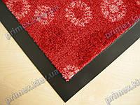 Ковер грязезащитный Снежинки, 90х150см., красный