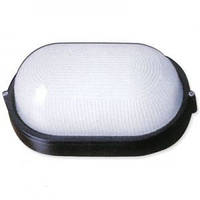 Светильник для ванны влагозащищенный овал (настенный светильник влагозащищенный овал) черный 100w E27 IP54,Wat