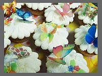 Украшения тортов и капкейков вафельными картинками