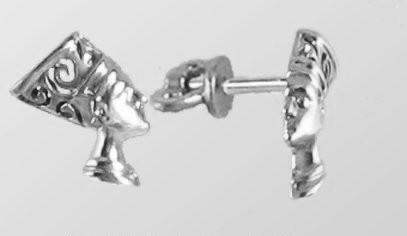 Серебряные сережки гвоздики Нефертити F 200160
