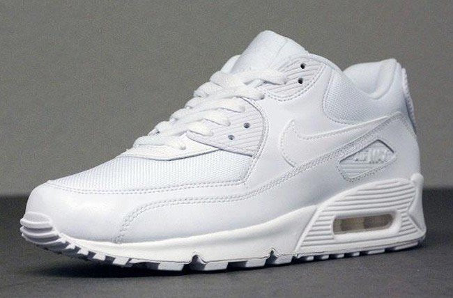 d5e6cc2702ab Кроссовки женские Nike Air Max 90 Essential Triple White (в стиле найк аир  макс)
